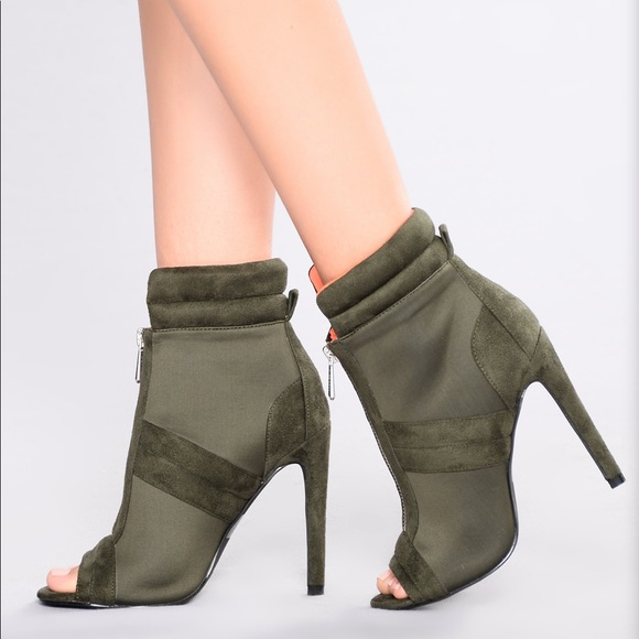 100% satisfaction search for official exclusive range Open Toe Ankle Booties